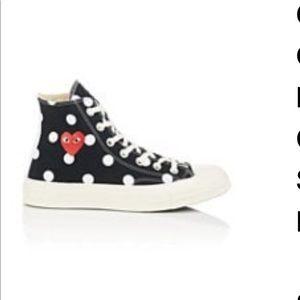 Polka dot Comme De Garçon chuck styled shoes